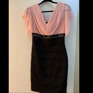 Pink glitter cocktail dress